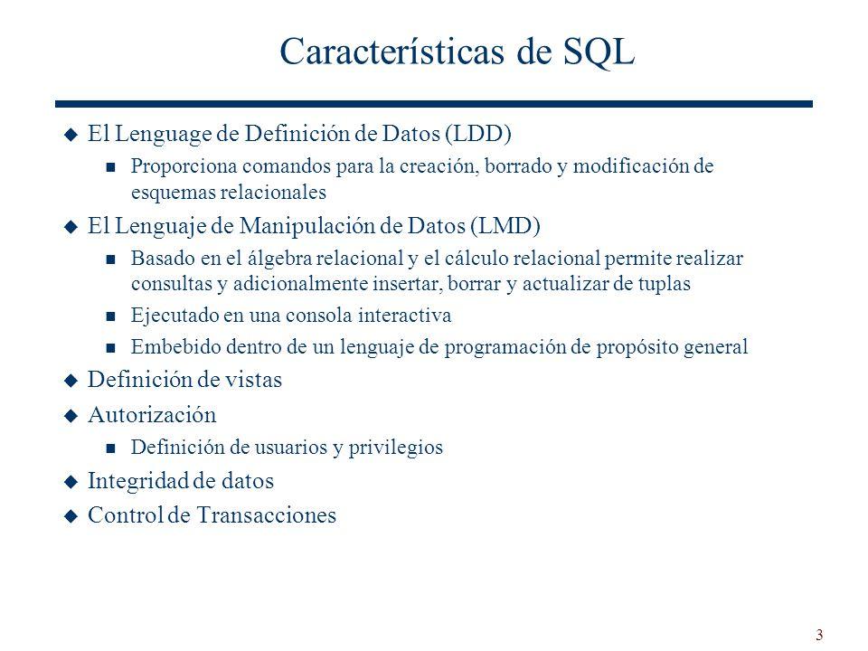 Características de SQL