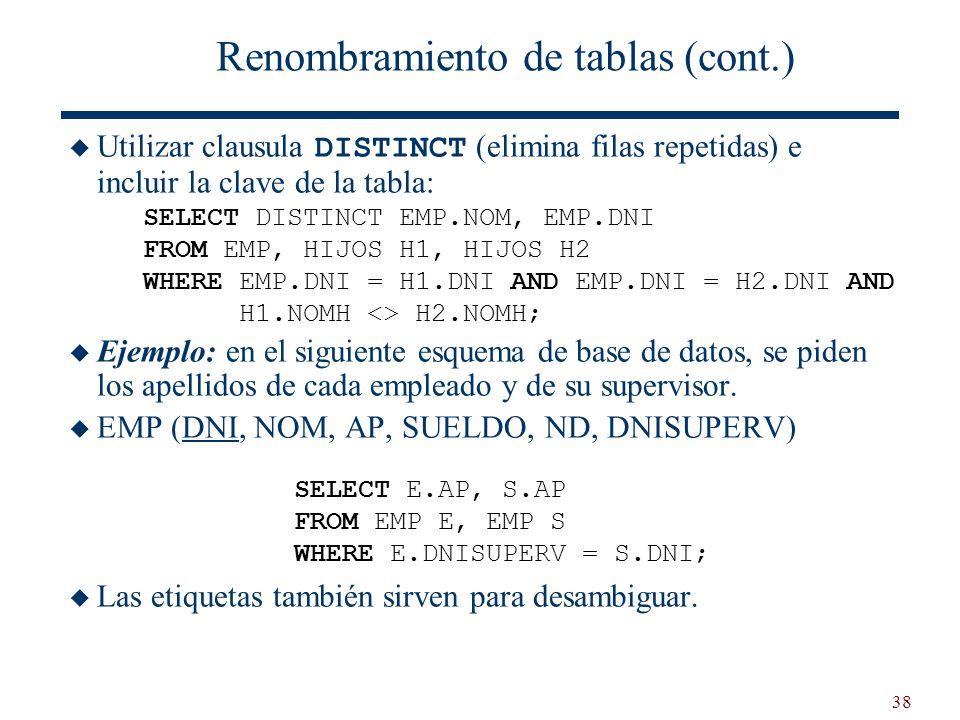 Renombramiento de tablas (cont.)