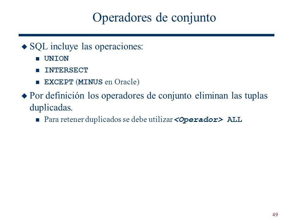 Operadores de conjunto