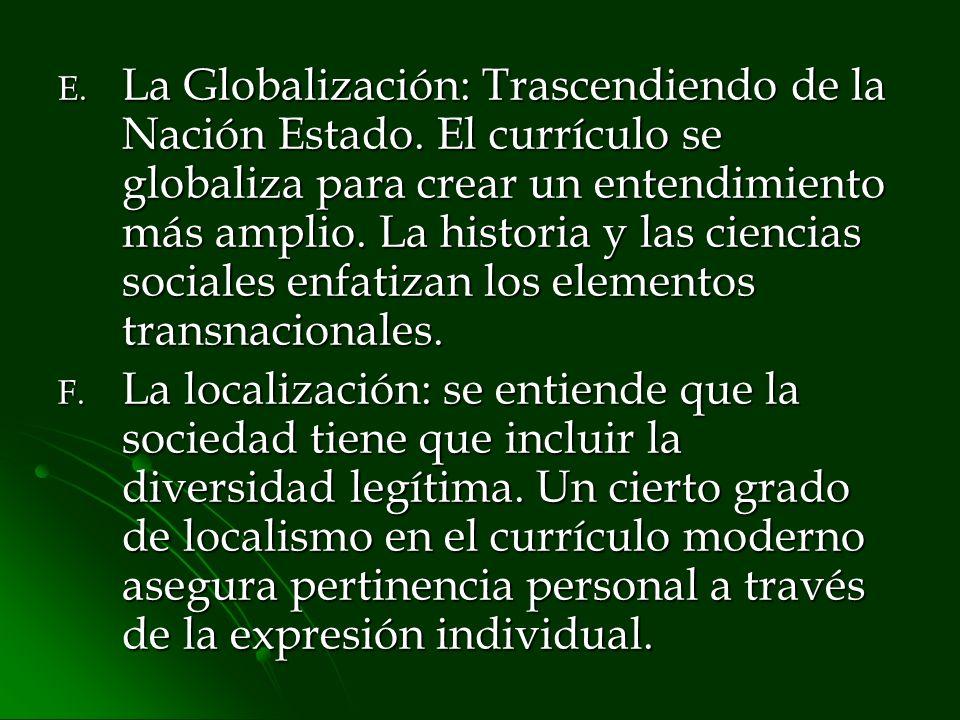 La Globalización: Trascendiendo de la Nación Estado