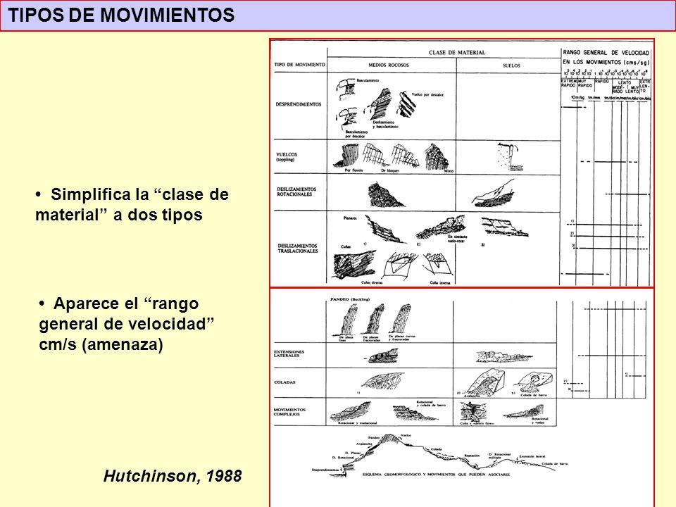 TIPOS DE MOVIMIENTOS • Simplifica la clase de material a dos tipos