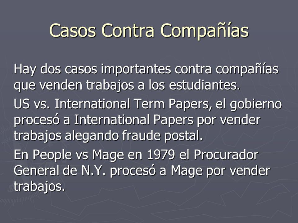 Casos Contra Compañías