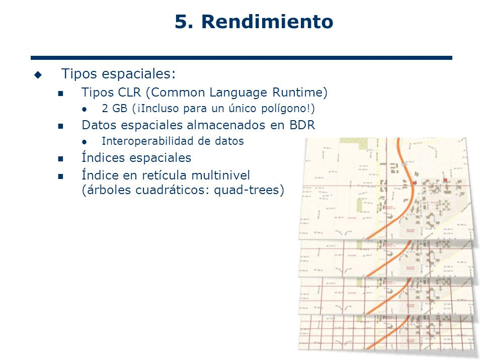 5. Rendimiento Tipos espaciales: Tipos CLR (Common Language Runtime)
