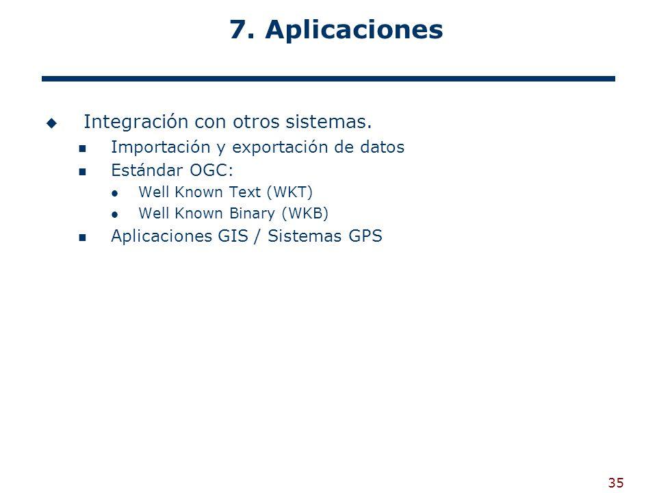 7. Aplicaciones Integración con otros sistemas.