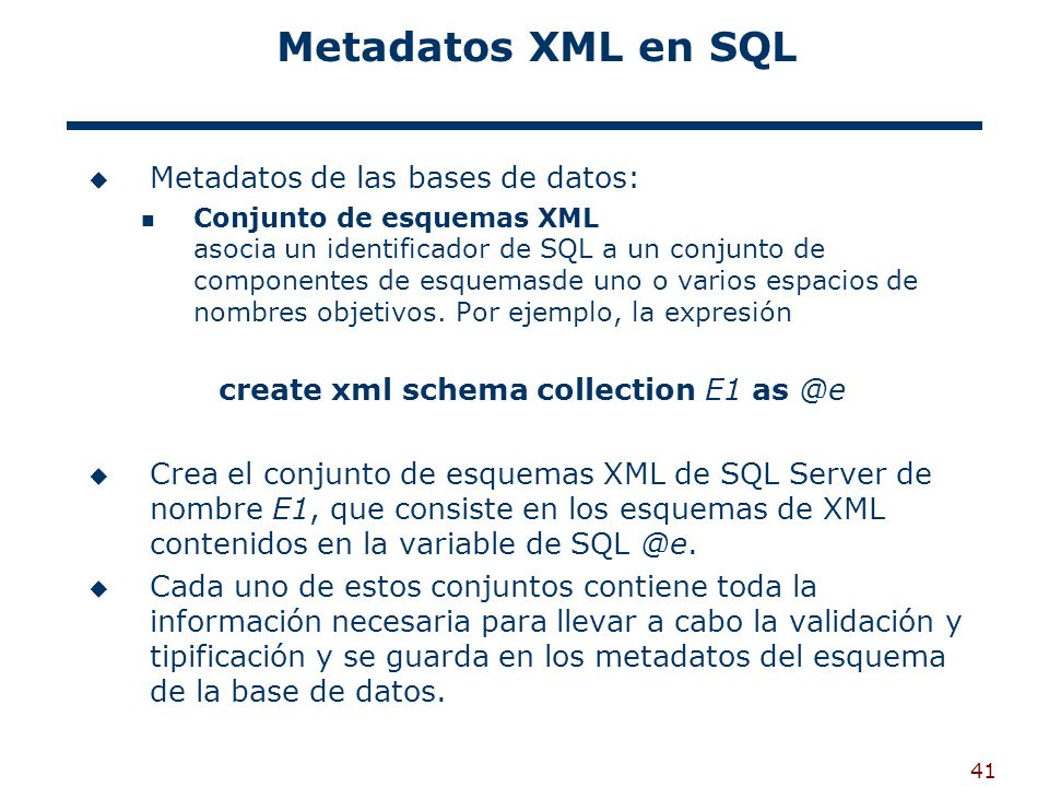 create xml schema collection E1 as @e