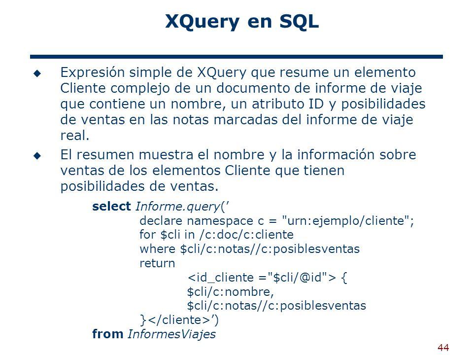XQuery en SQL