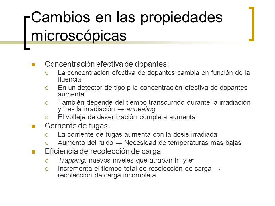 Cambios en las propiedades microscópicas