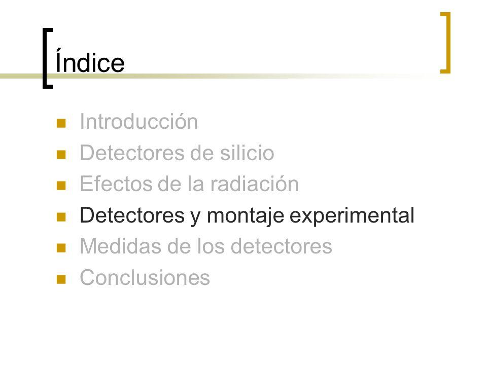 Índice Introducción Detectores de silicio Efectos de la radiación