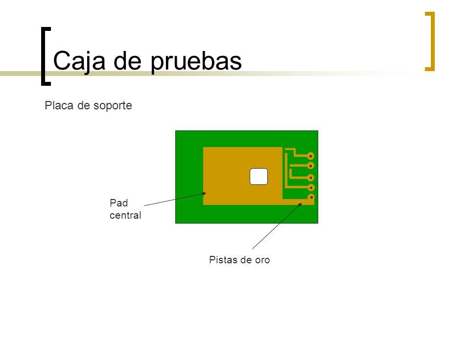 Caja de pruebas Placa de soporte Pad central Pistas de oro