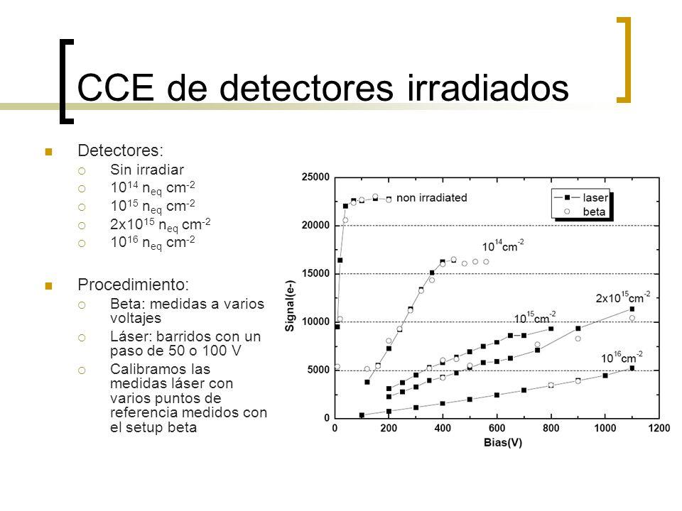 CCE de detectores irradiados