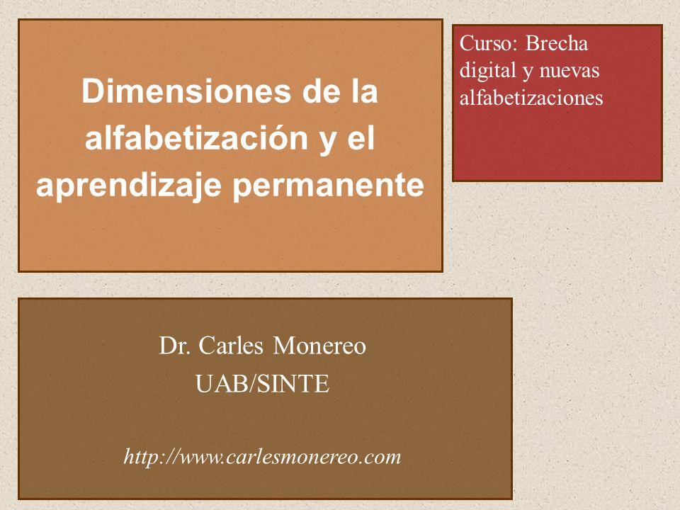 Dimensiones de la alfabetización y el aprendizaje permanente