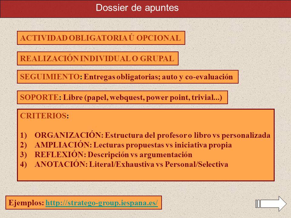Dossier de apuntes ACTIVIDAD OBLIGATORIA Ú OPCIONAL