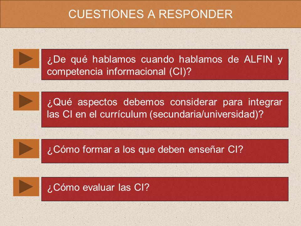 CUESTIONES A RESPONDER