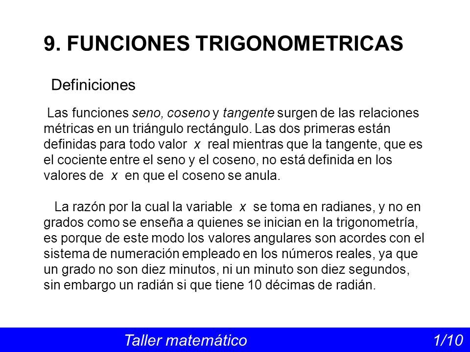 9. FUNCIONES TRIGONOMETRICAS