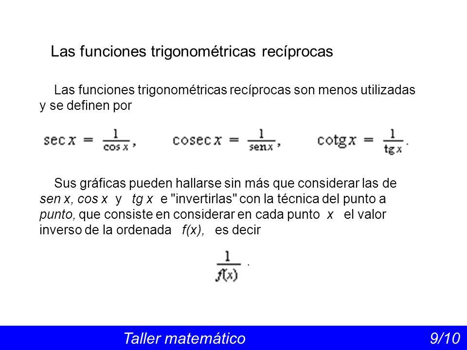 Las funciones trigonométricas recíprocas