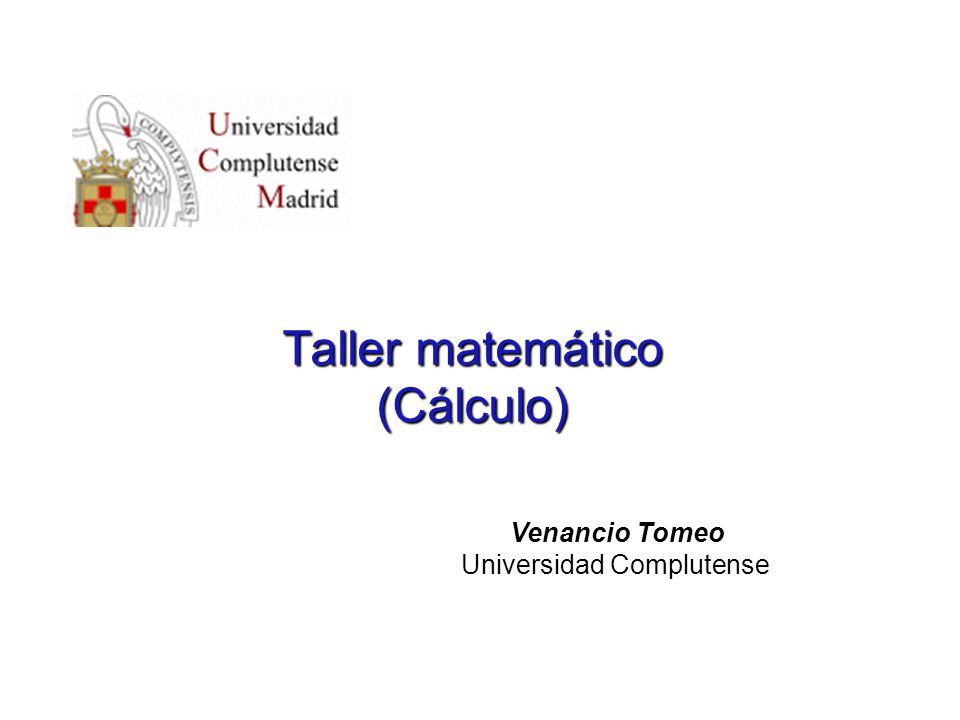 Taller matemático (Cálculo)