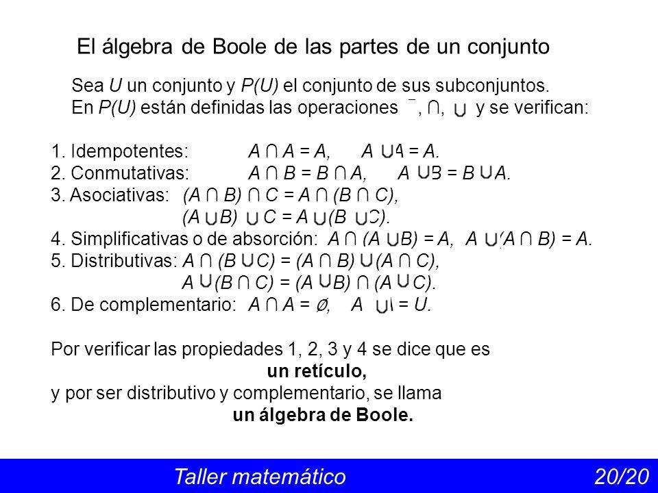 El álgebra de Boole de las partes de un conjunto