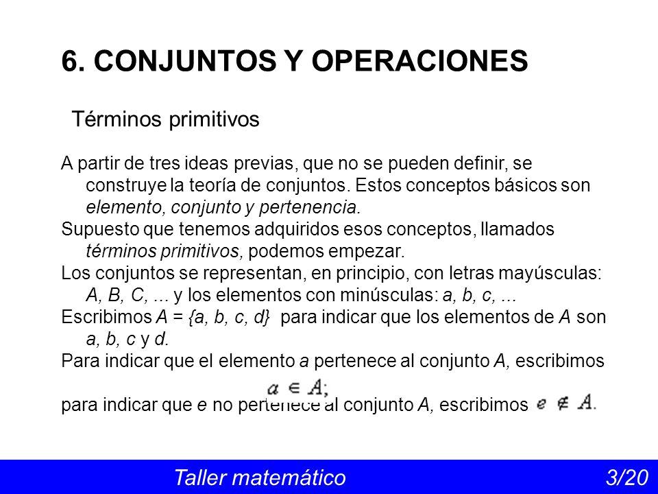 6. CONJUNTOS Y OPERACIONES