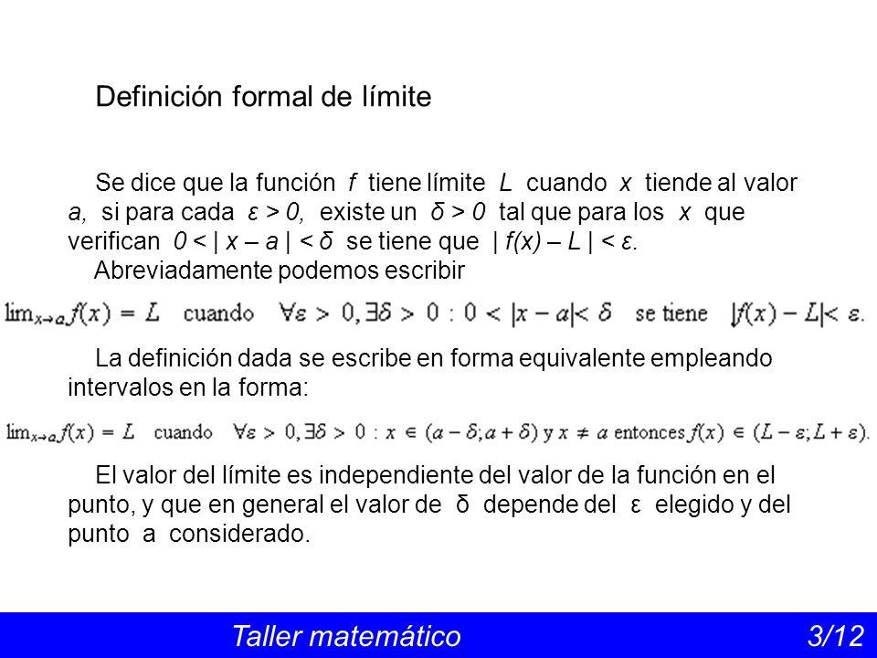 Definición formal de límite