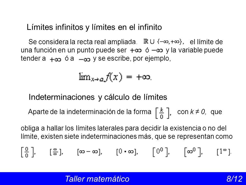 Límites infinitos y límites en el infinito