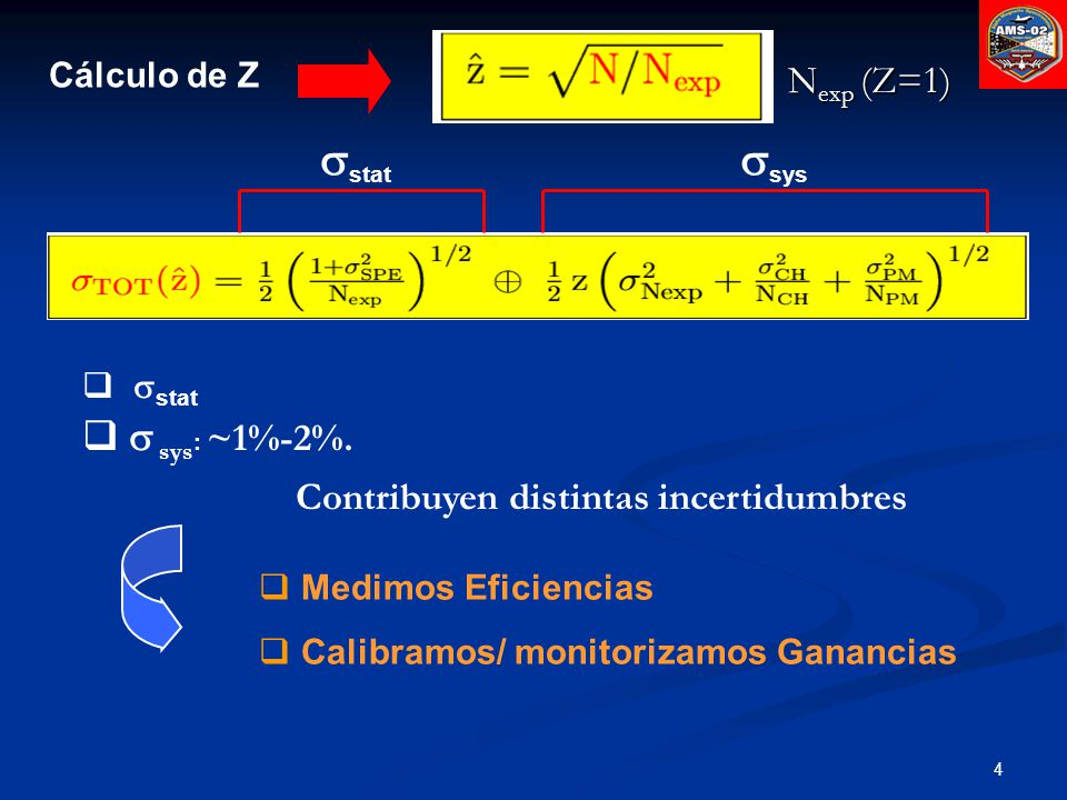 sstat ssys s sys: ~1%-2%. Nexp (Z=1)
