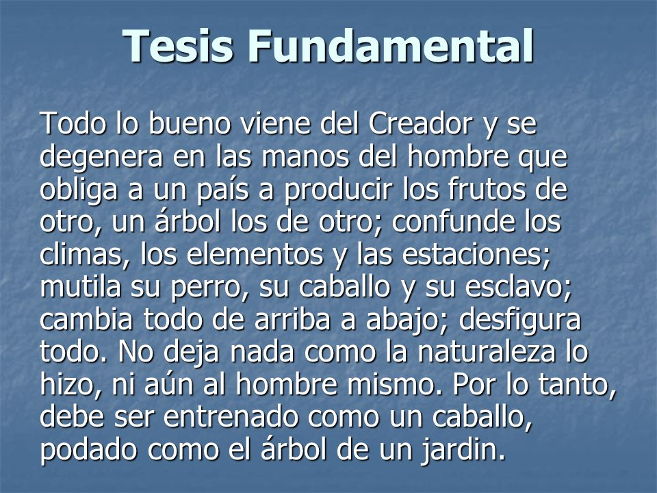 Tesis Fundamental