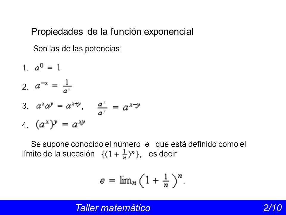 Propiedades de la función exponencial