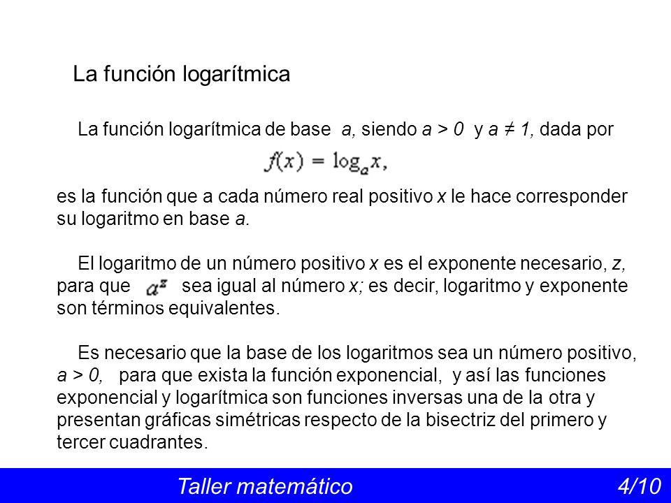 La función logarítmica