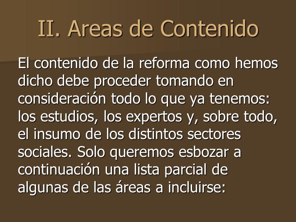 II. Areas de Contenido