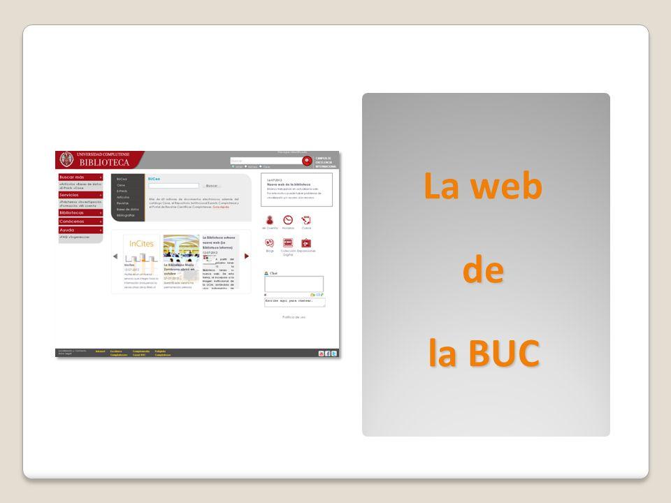 La web de la BUC