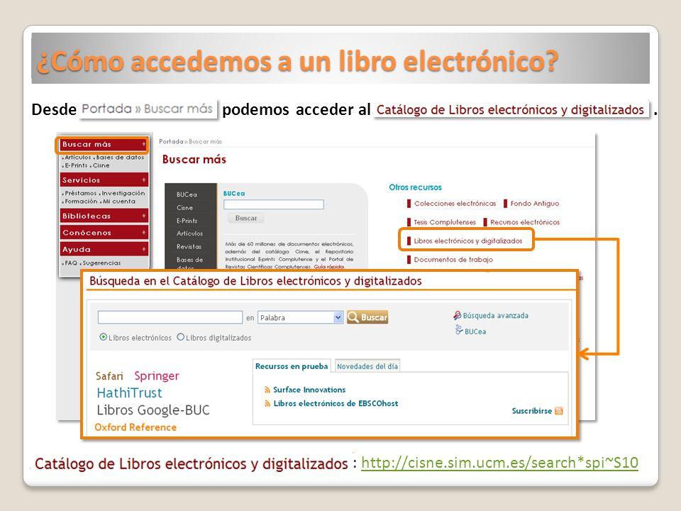 ¿Cómo accedemos a un libro electrónico