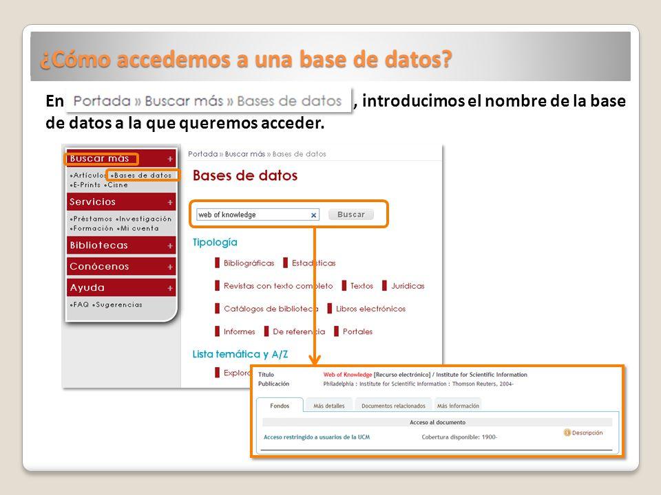 ¿Cómo accedemos a una base de datos