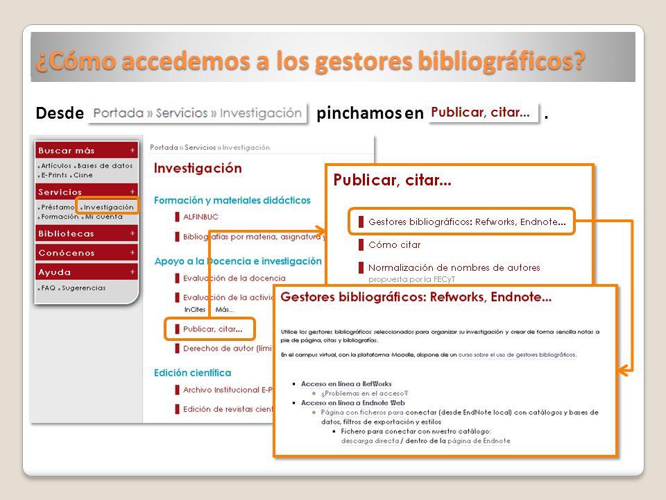 ¿Cómo accedemos a los gestores bibliográficos