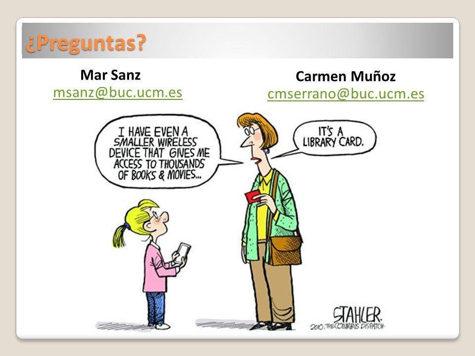 Mar Sanz msanz@buc.ucm.es