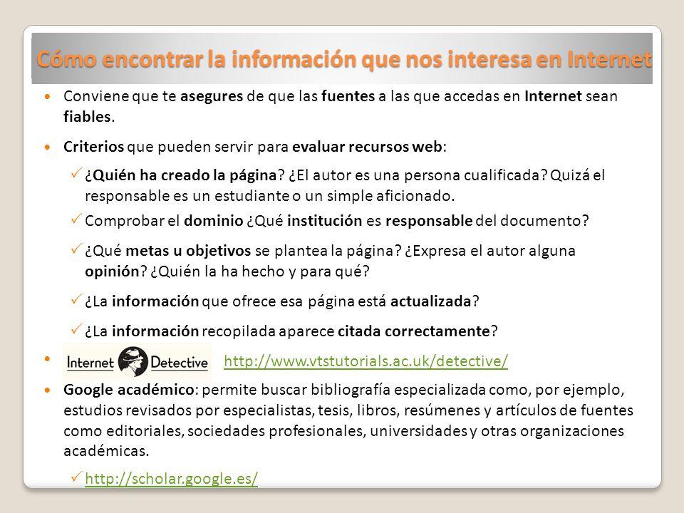 Cómo encontrar la información que nos interesa en Internet