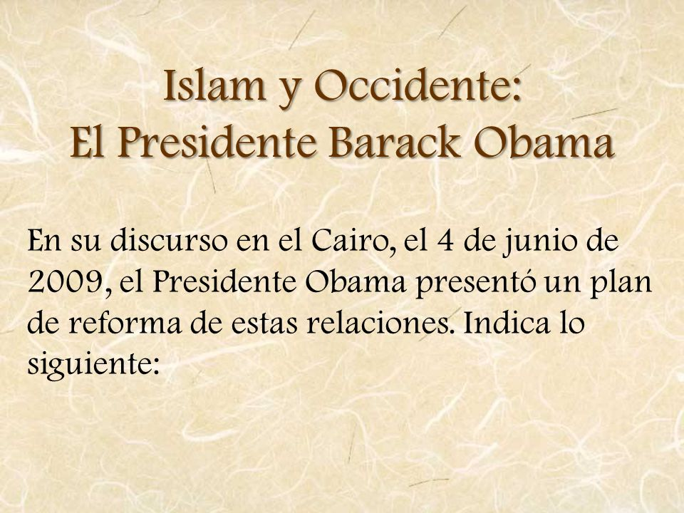 El Presidente Barack Obama