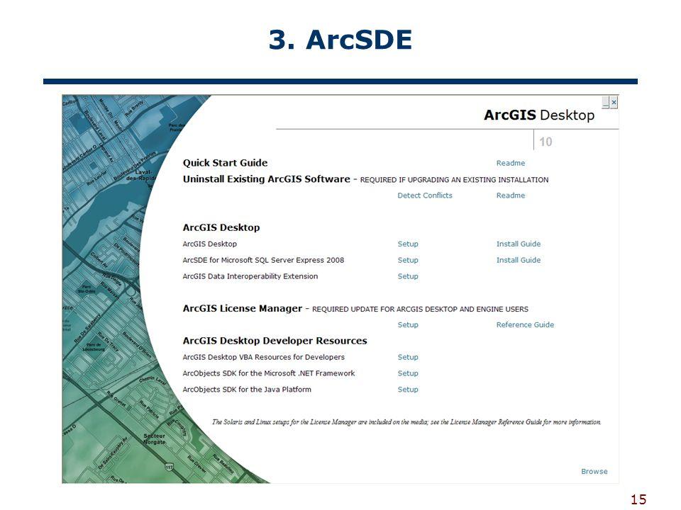 3. ArcSDE