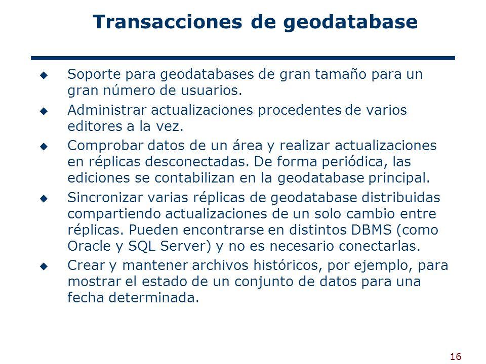 Transacciones de geodatabase
