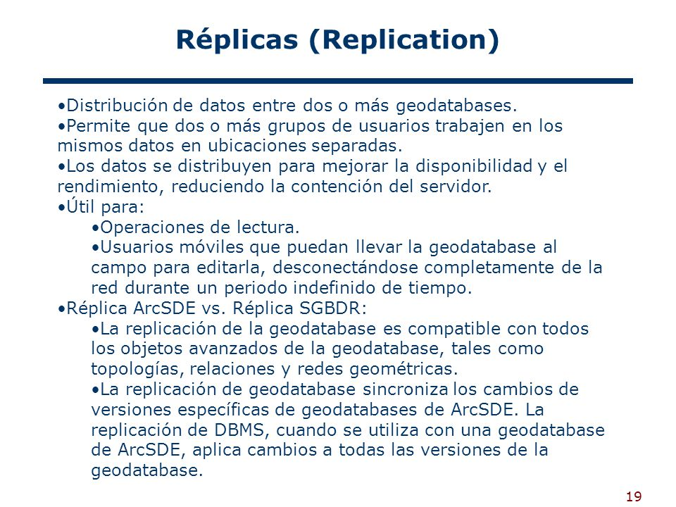 Réplicas (Replication)