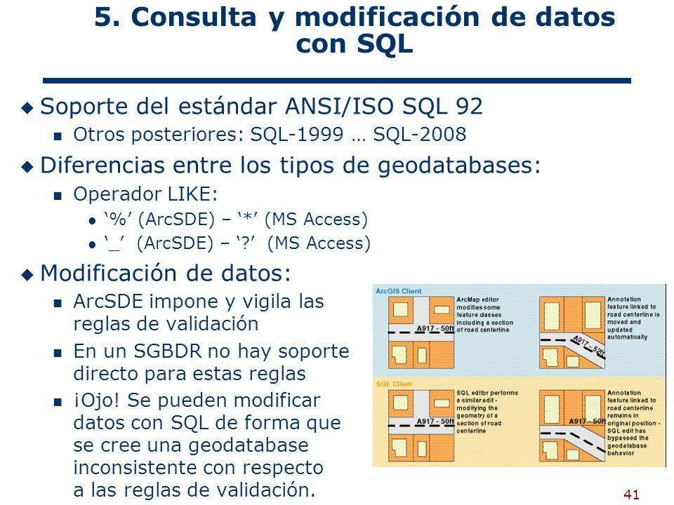 5. Consulta y modificación de datos con SQL