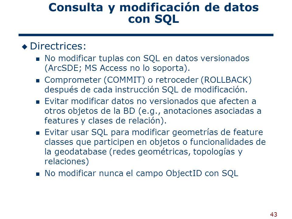 Consulta y modificación de datos con SQL