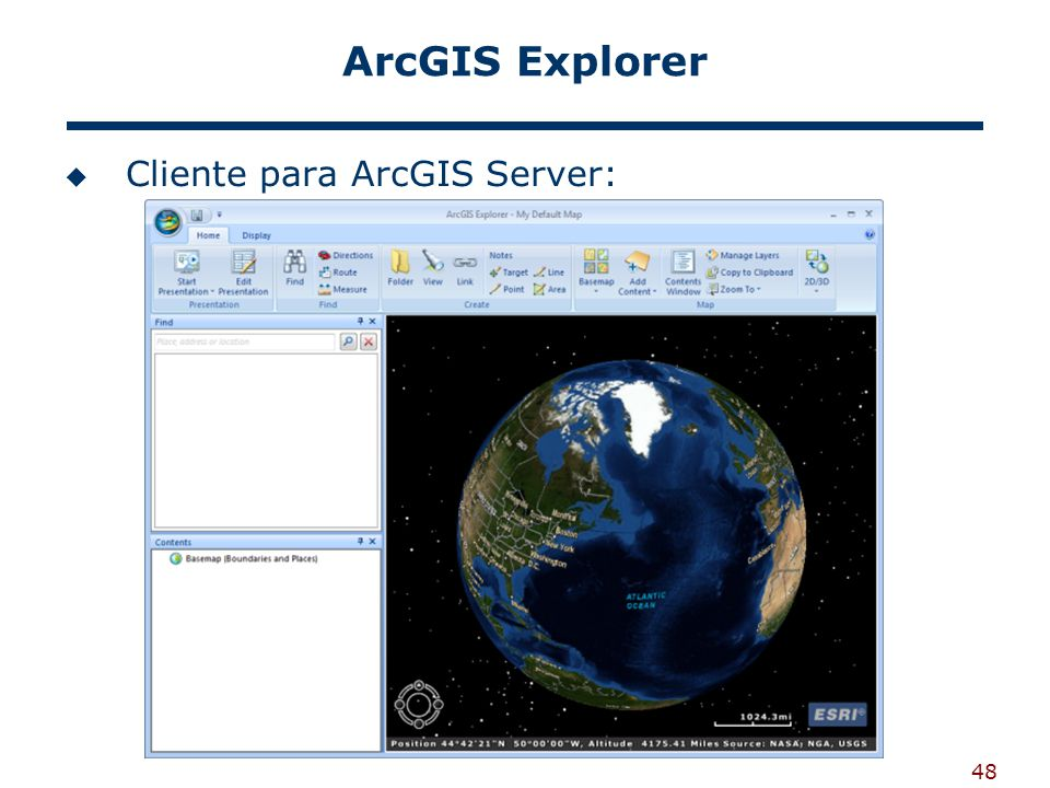 ArcGIS Explorer Cliente para ArcGIS Server: