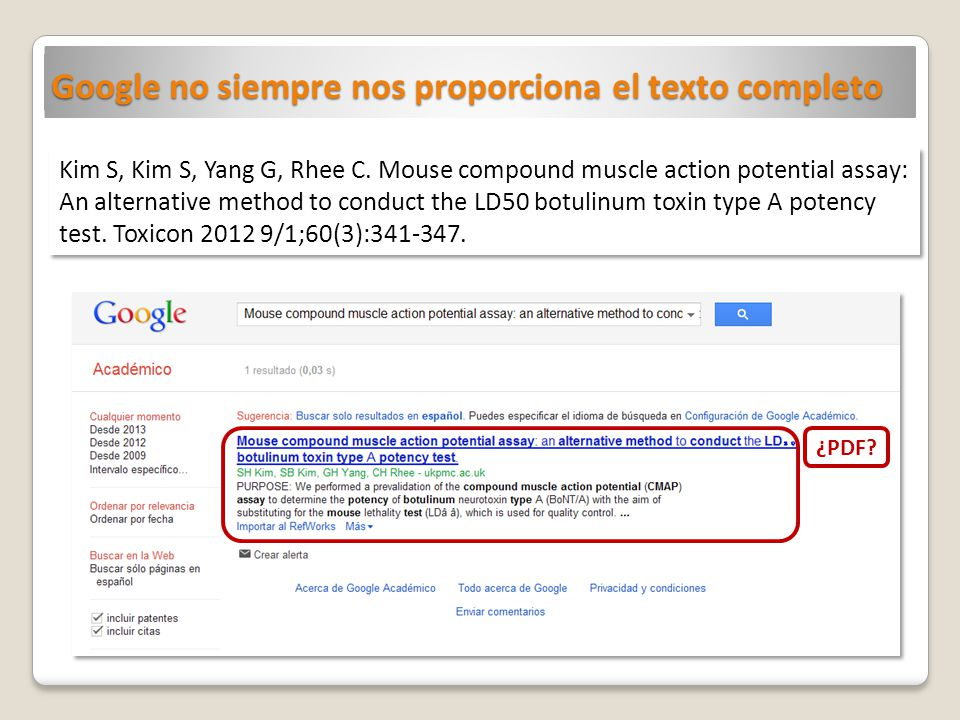 Google no siempre nos proporciona el texto completo