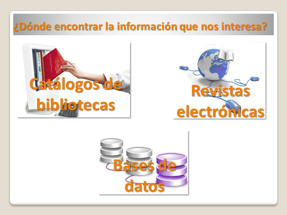 Catálogos de bibliotecas Revistas electrónicas