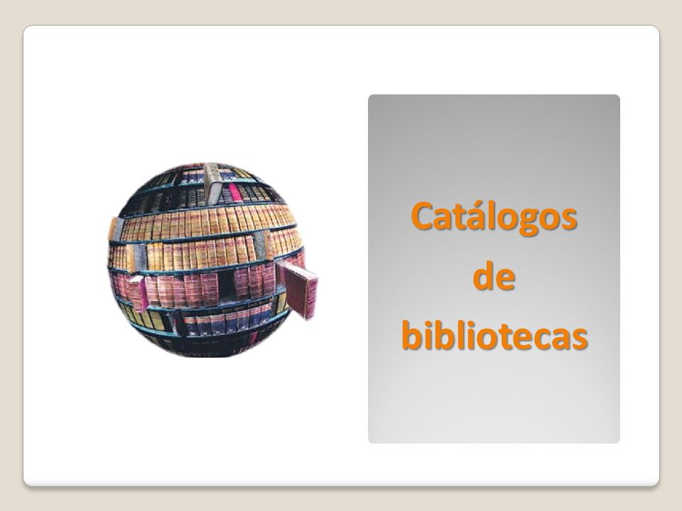 Catálogos de bibliotecas