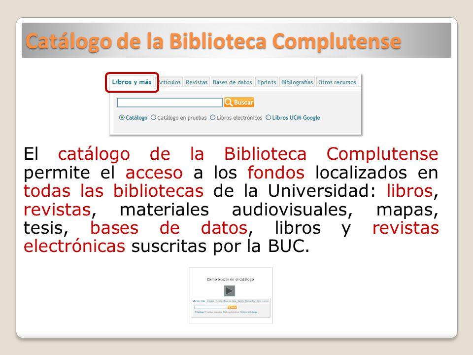 Catálogo de la Biblioteca Complutense