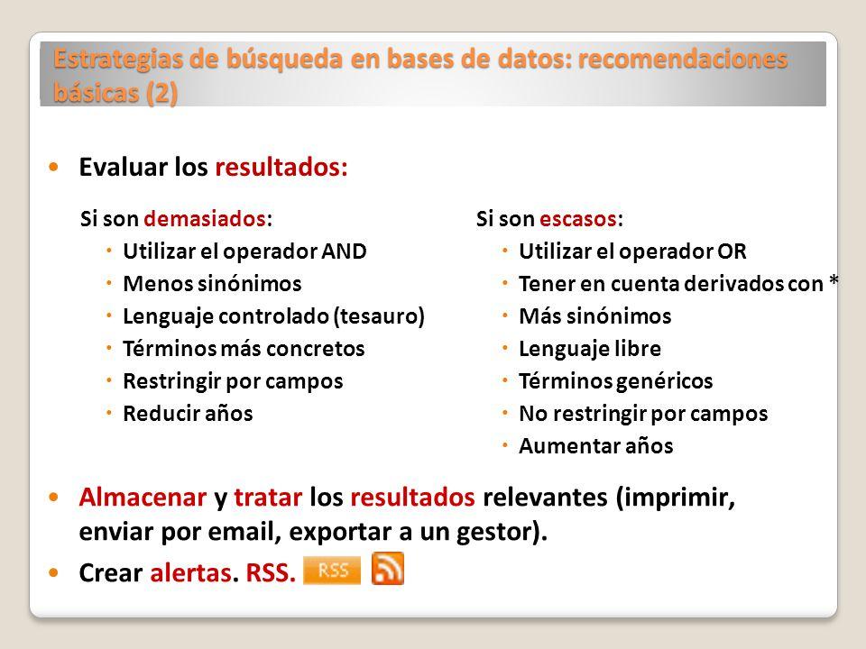 Estrategias de búsqueda en bases de datos: recomendaciones básicas (2)