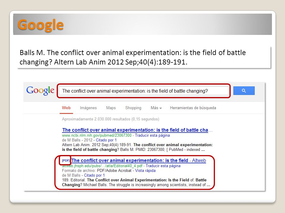 Google Balls M. The conflict over animal experimentation: is the field of battle changing.