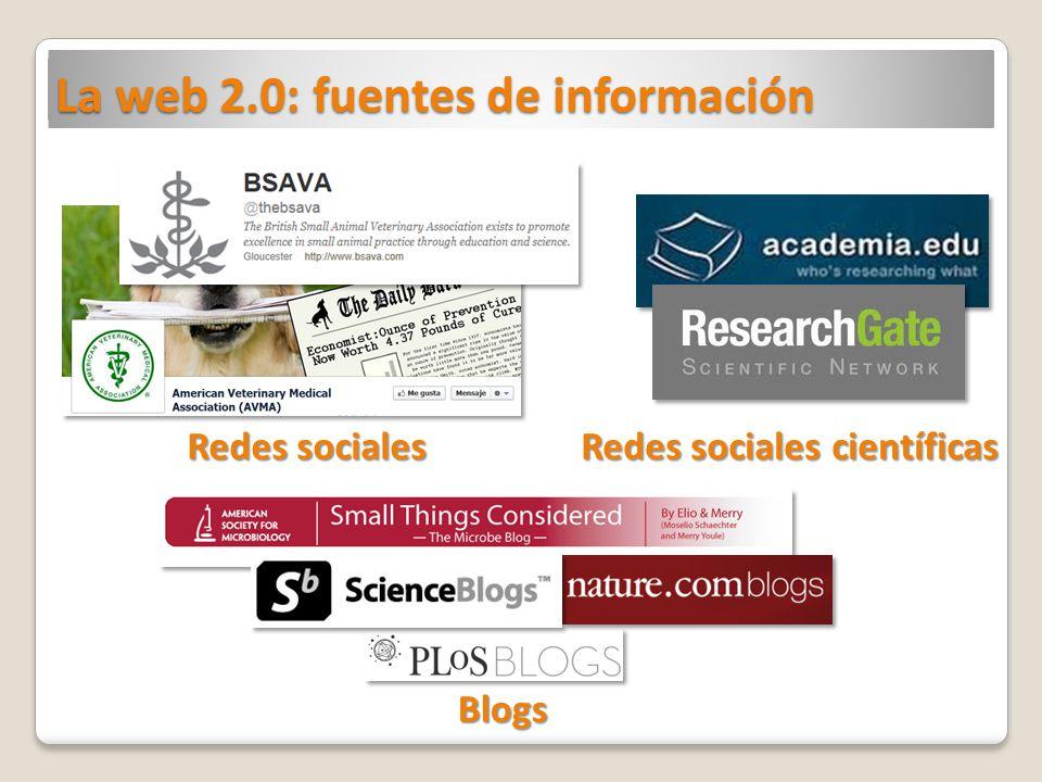 La web 2.0: fuentes de información