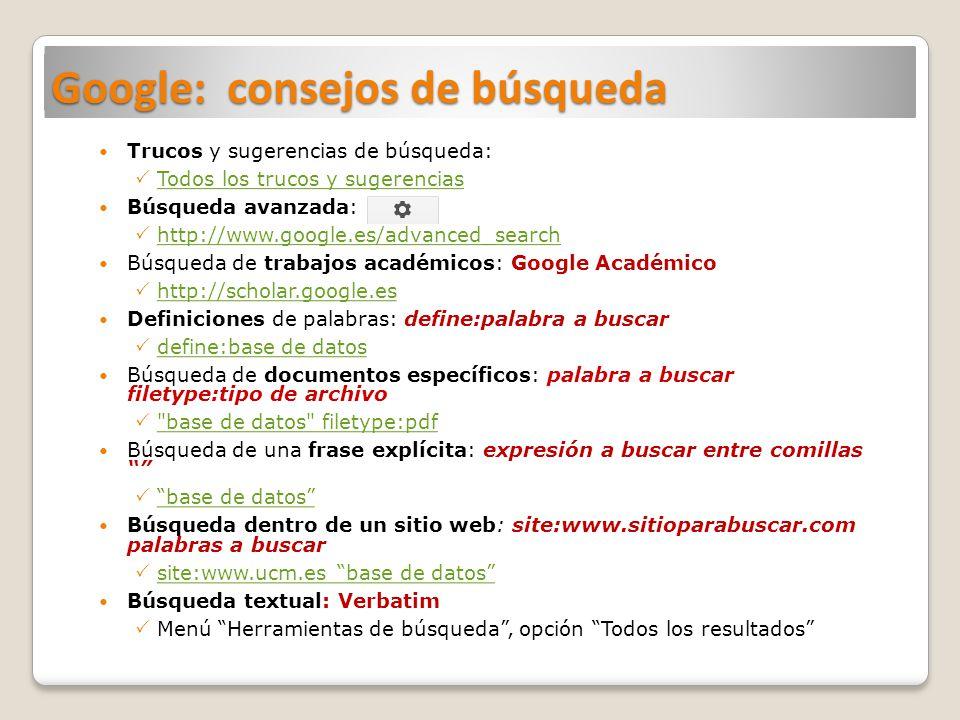 Google: consejos de búsqueda